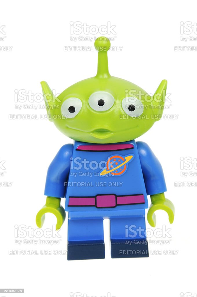 Pizza Planet Alien Lego Disney Series 1 Minifigure stock photo