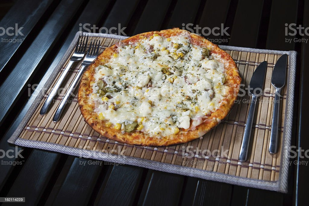 Pizza polo royalty-free stock photo