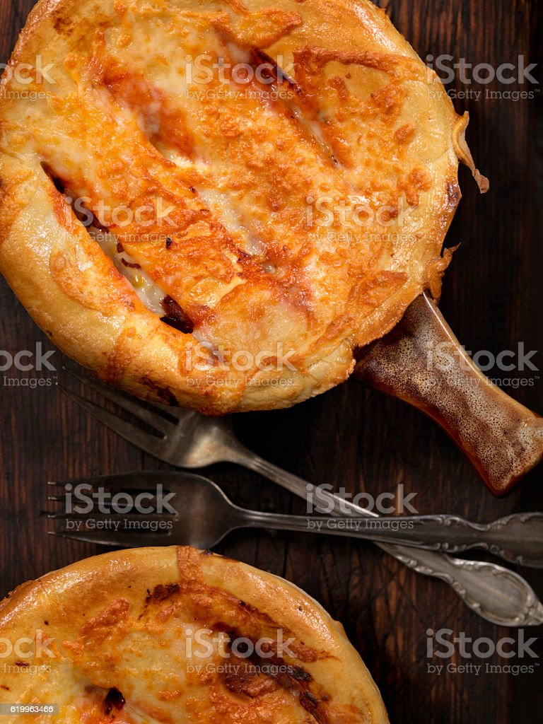 Pizza Pot Pie stock photo
