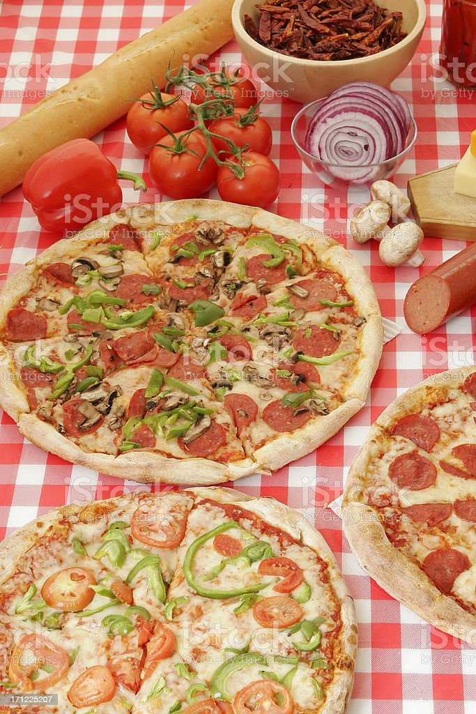 Pizza preparation 11 royalty-free stock photo