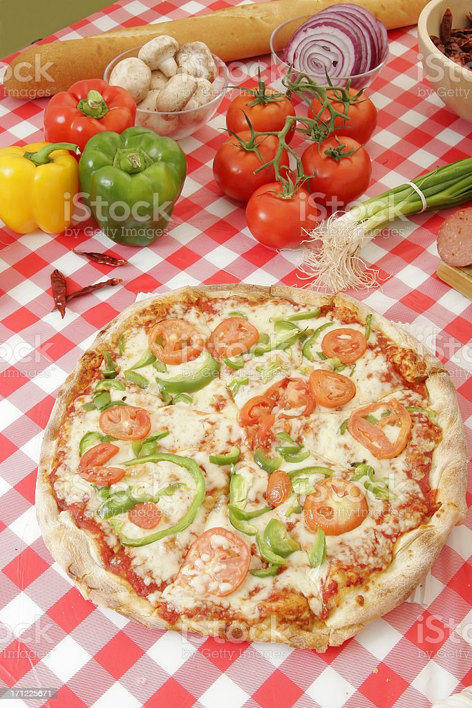 Pizza preparation 12 royalty-free stock photo