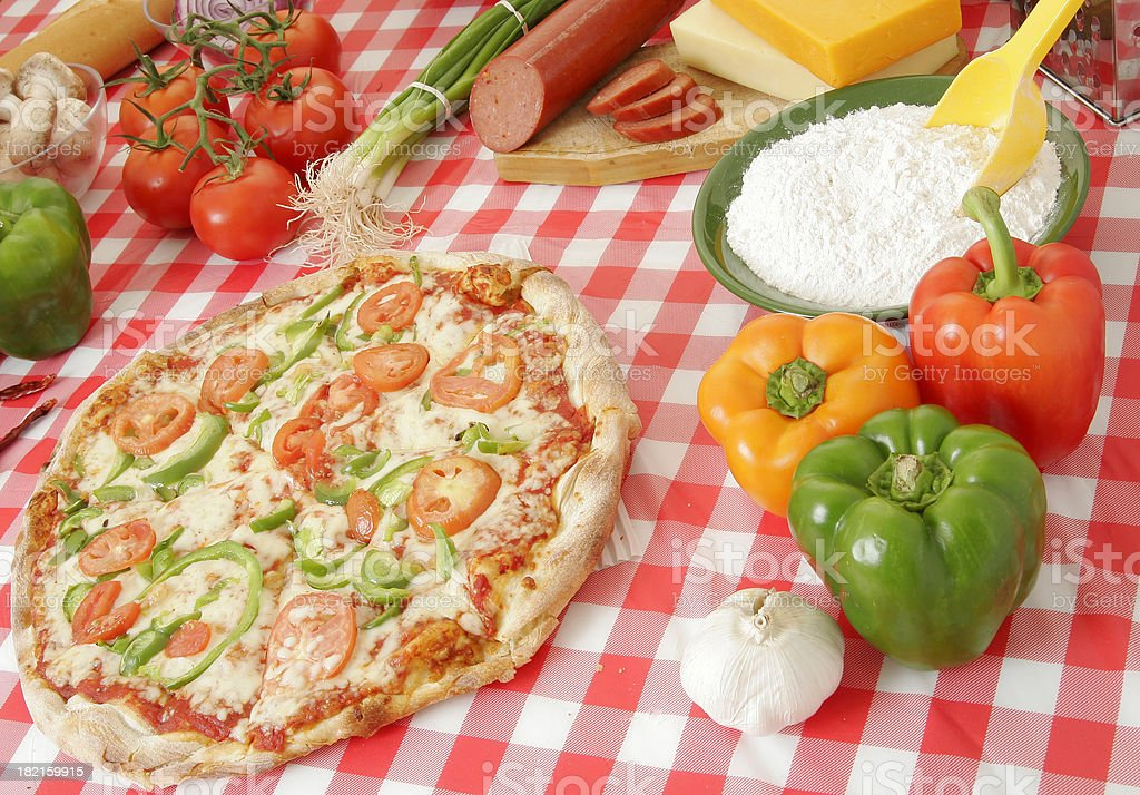 Pizza preparation 13 royalty-free stock photo