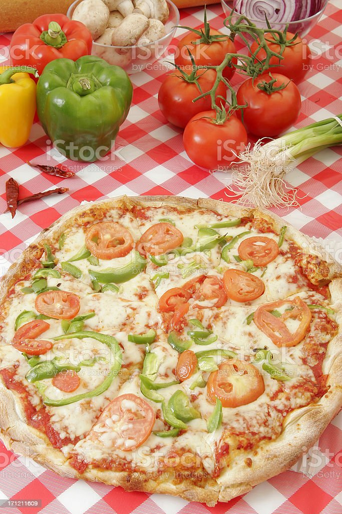 Pizza preparation 14 royalty-free stock photo