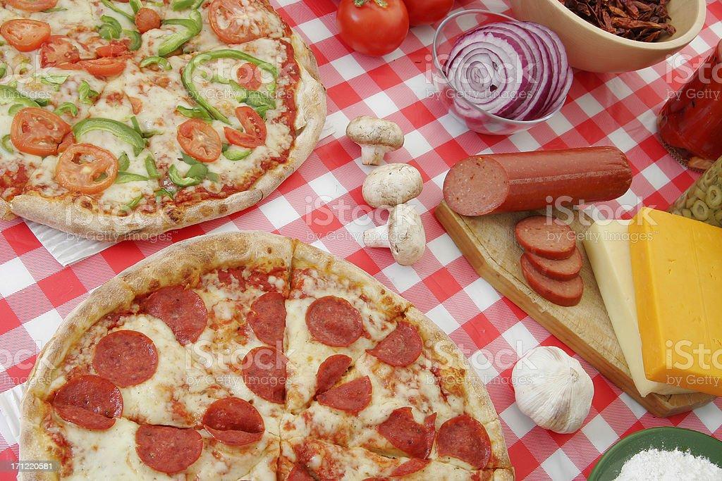 Pizza preparation 19 royalty-free stock photo