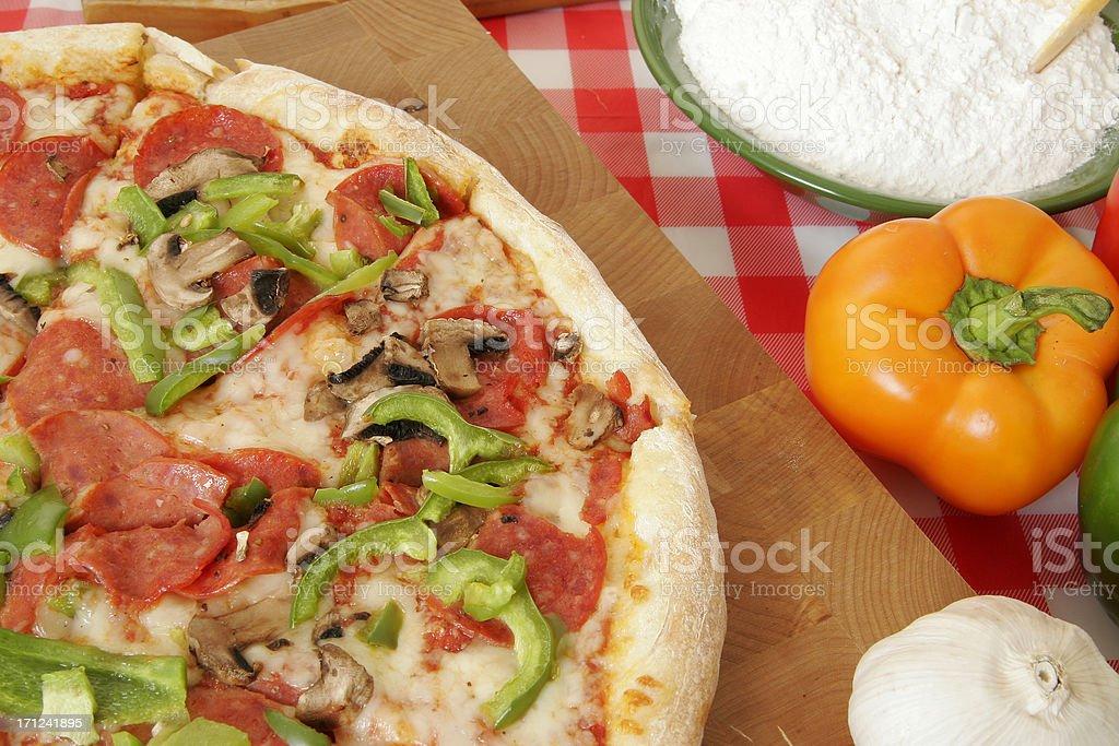 Pizza preparation 33 royalty-free stock photo