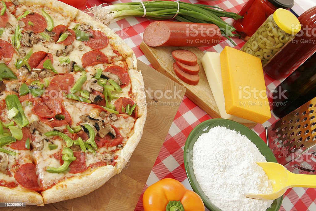 Pizza preparation 39 royalty-free stock photo