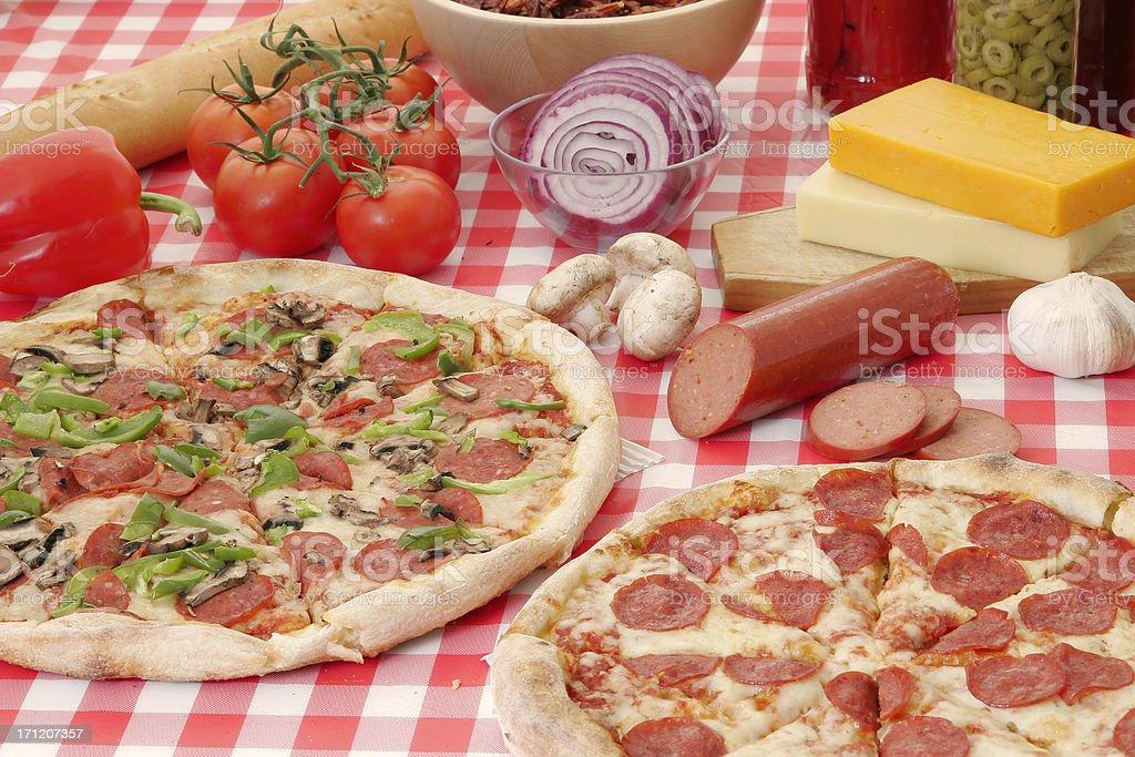 Pizza preparation 7 royalty-free stock photo