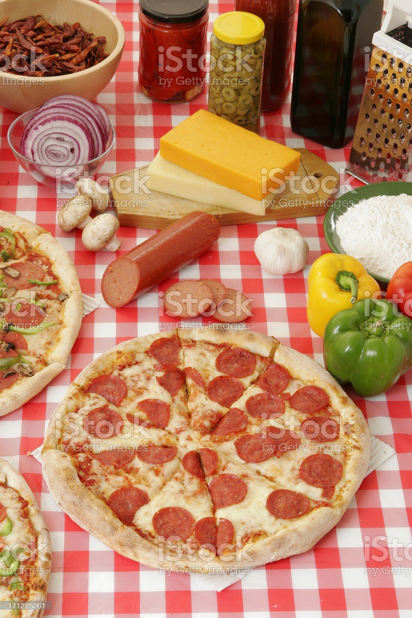Pizza preparation 8 royalty-free stock photo