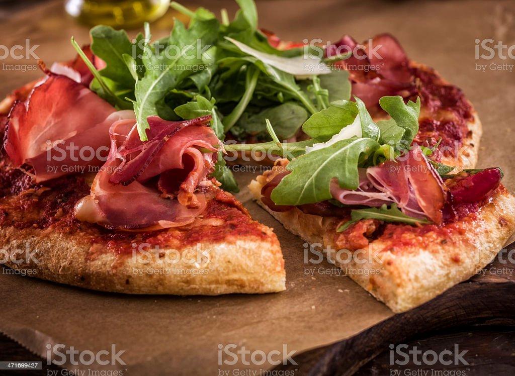 Pizza Prosciutto royalty-free stock photo