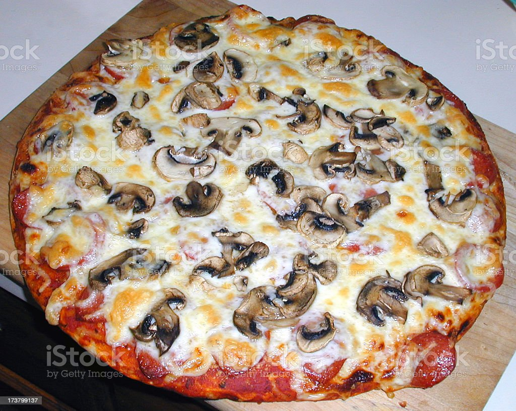 Pizza right out of my oven stock photo