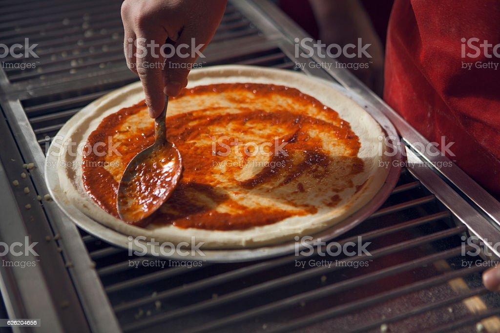 Pizza Sauce stock photo