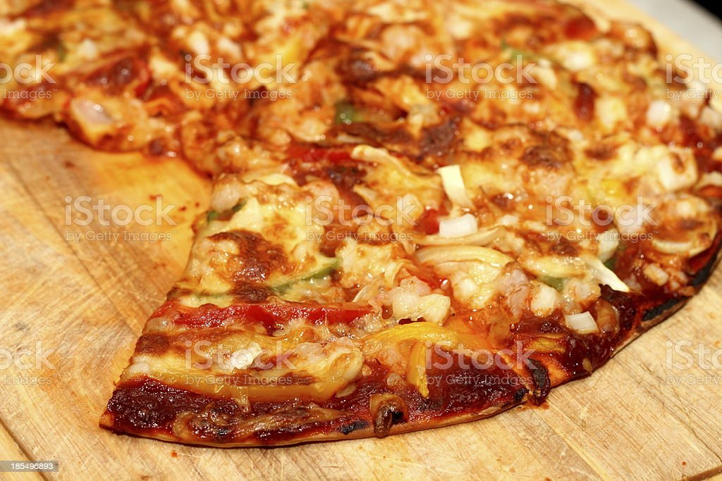 Pizza seafood royalty-free stock photo