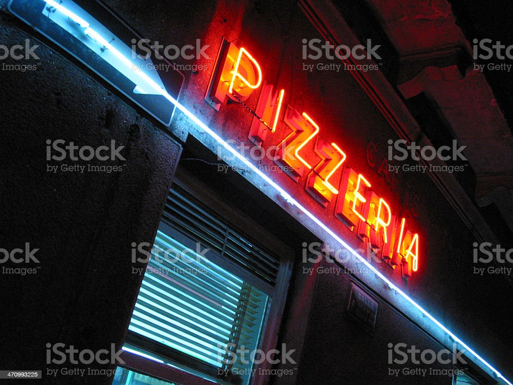 pizza sign royalty-free stock photo