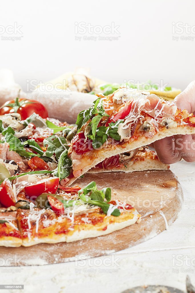 pizza slice royalty-free stock photo