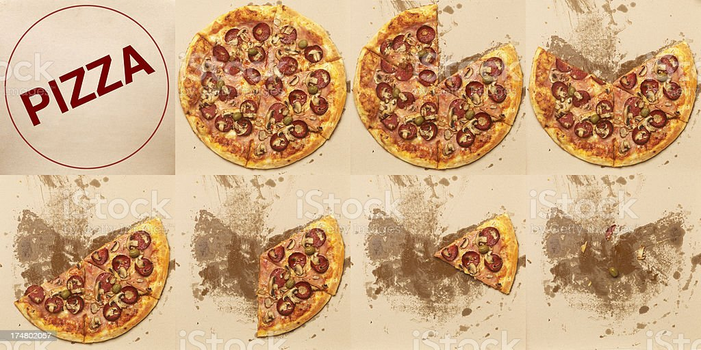 Pizza Slices royalty-free stock photo