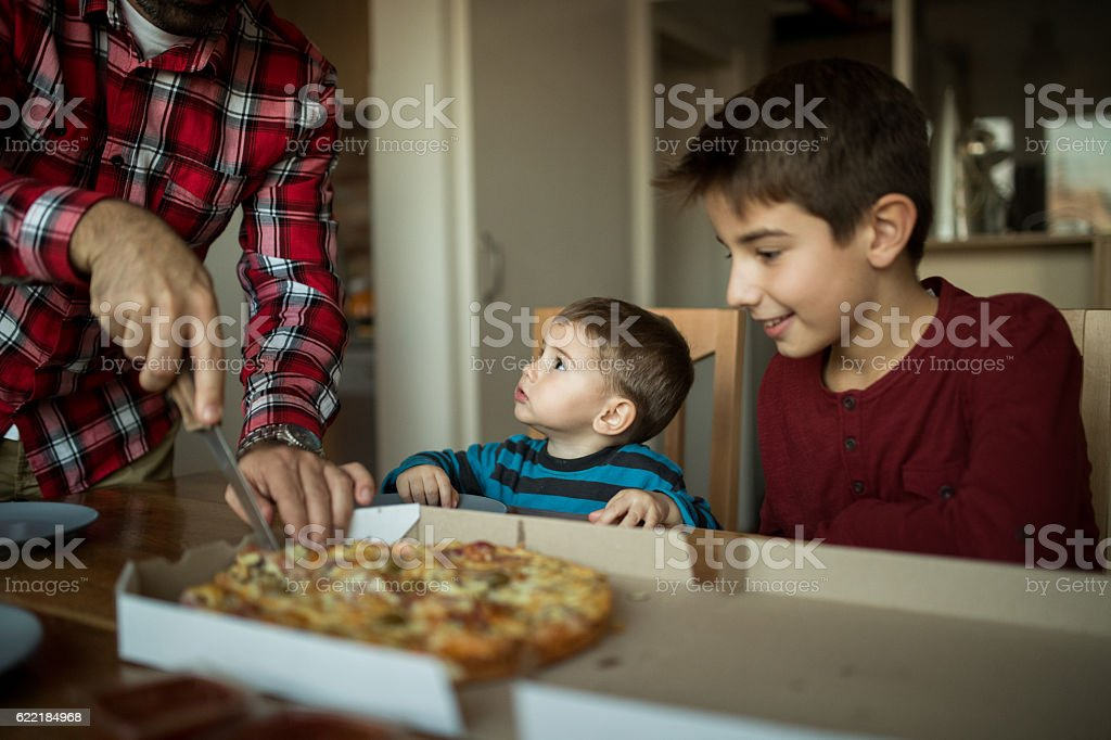 Pizza time stock photo