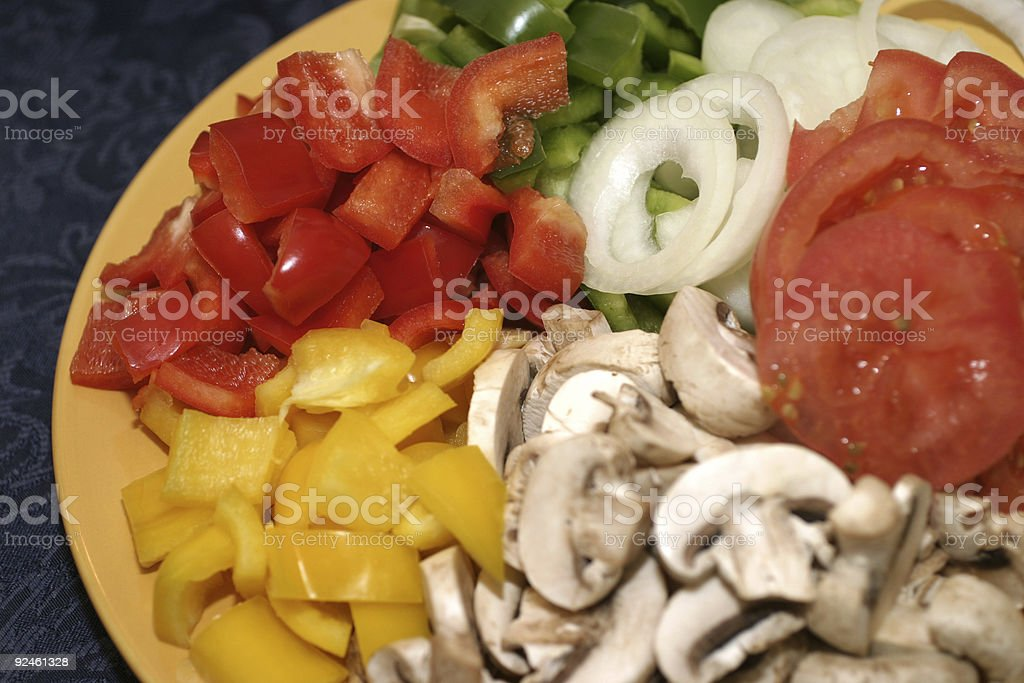 Pizza toppings royalty-free stock photo