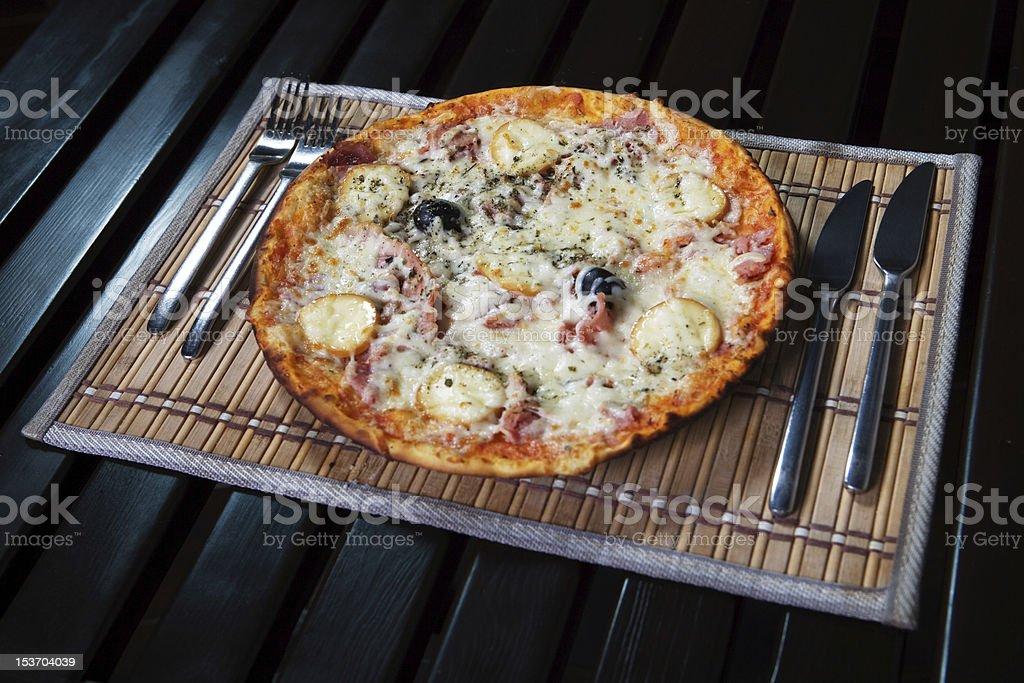 Pizza Toscana royalty-free stock photo