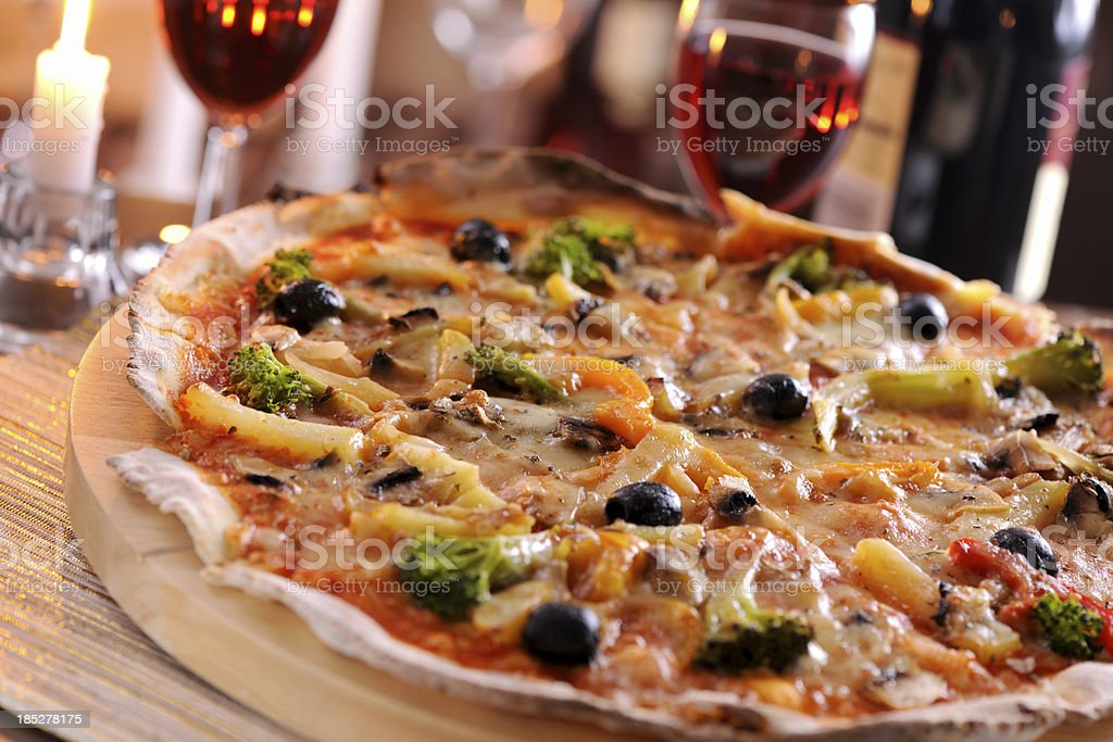 Pizza vegetaria stock photo