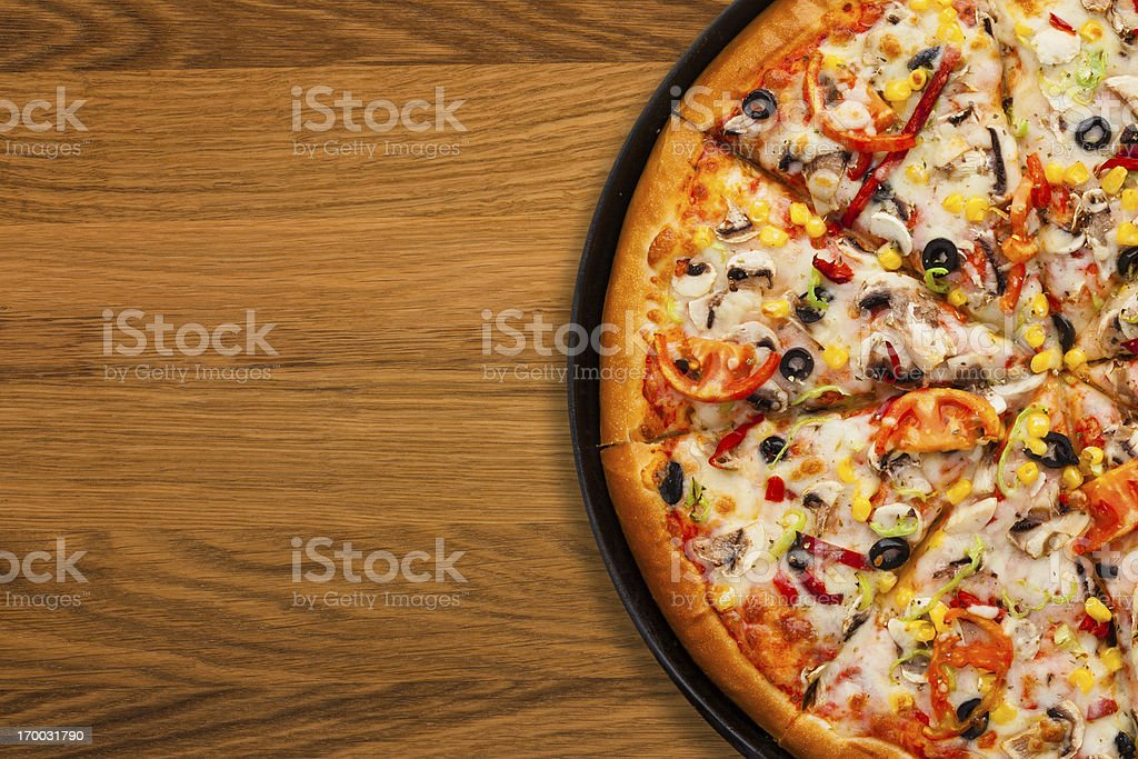 Pizza with copy space stock photo