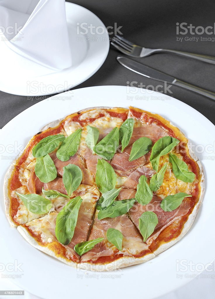 Pizza with dry royalty-free stock photo