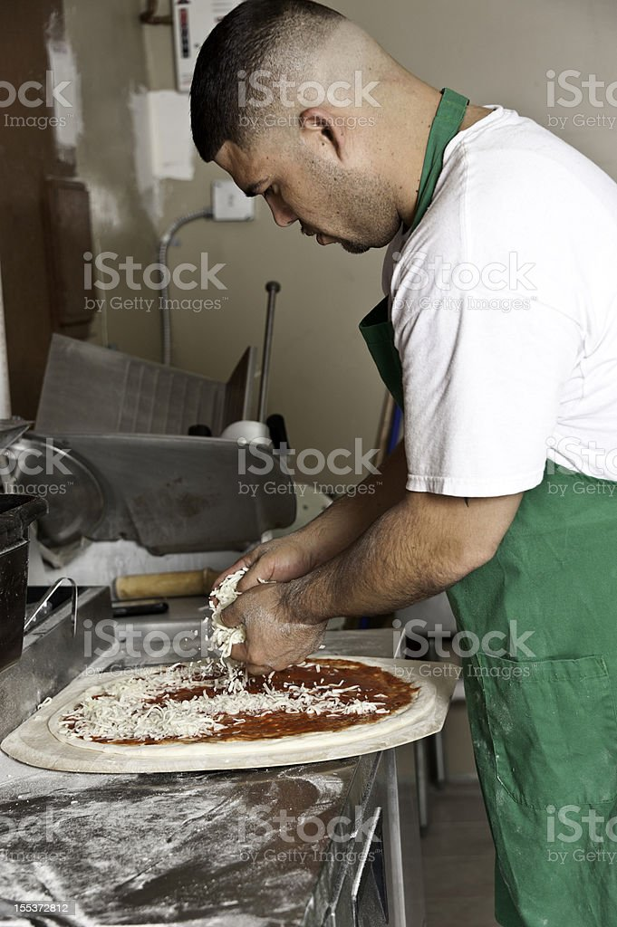 Pizzaiolo royalty-free stock photo