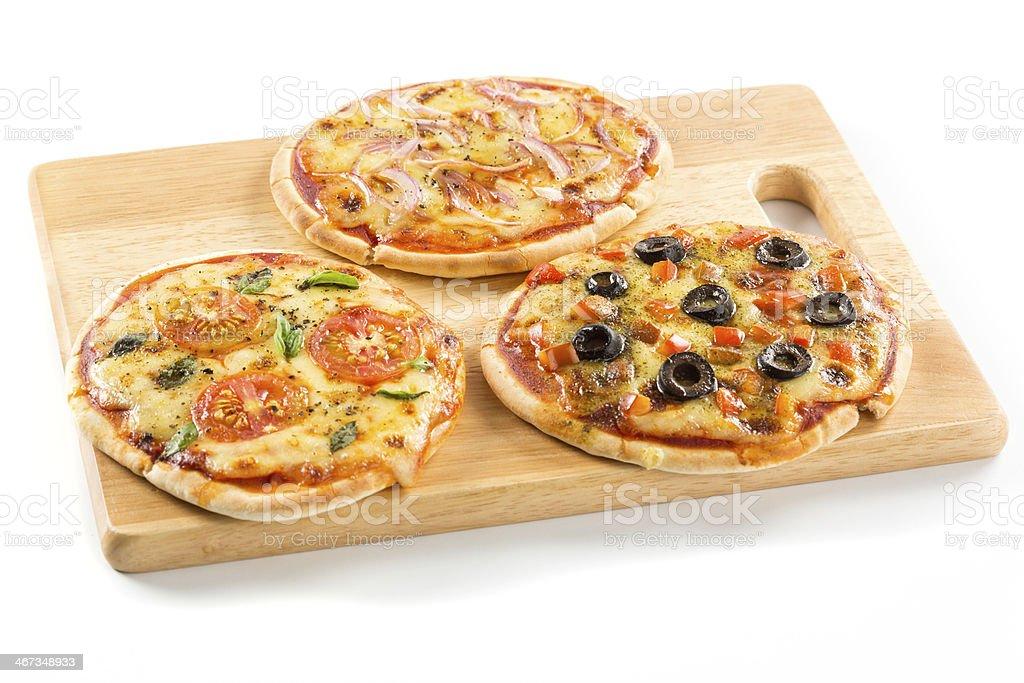 Pizzas stock photo