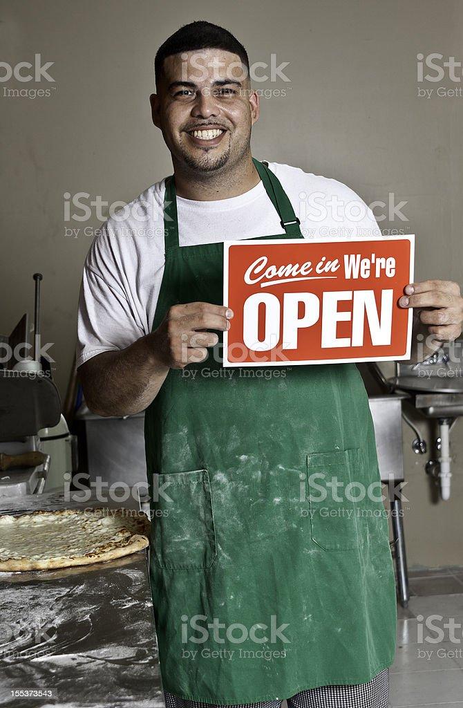 Pizzeria Owner stock photo