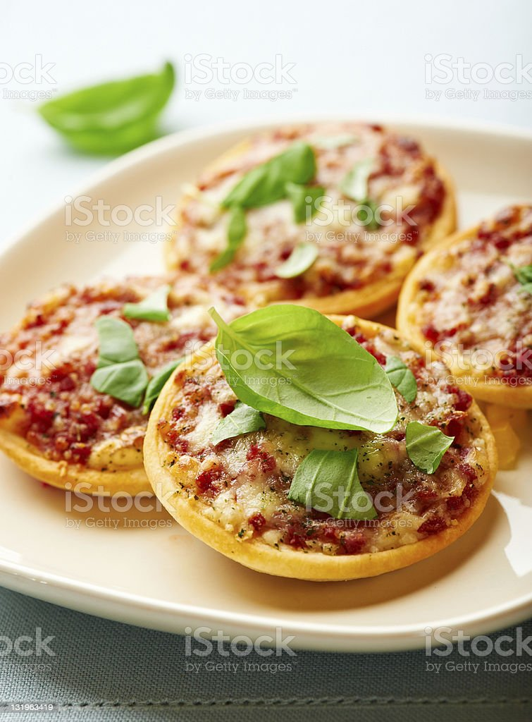 Pizzette (small pizzas, Italy) royalty-free stock photo