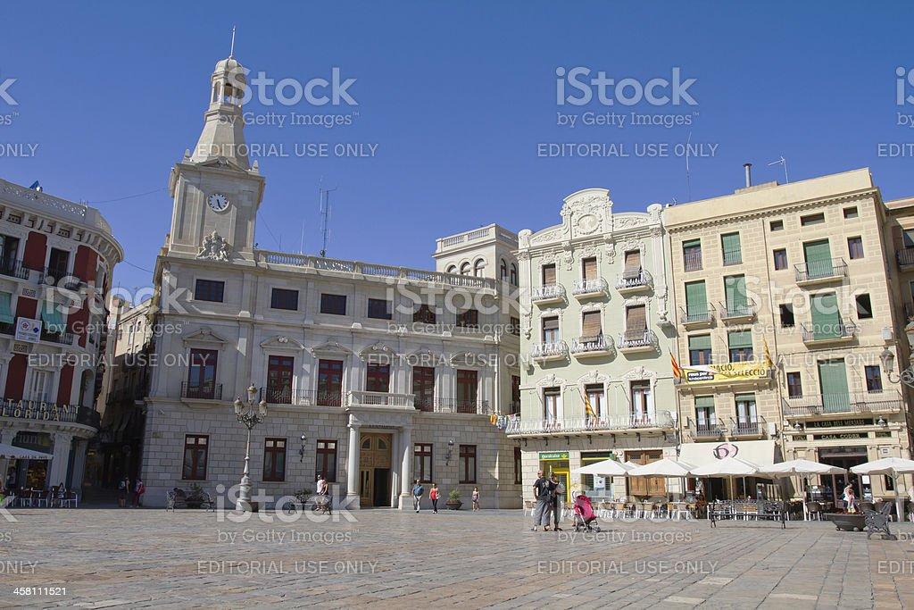 Plaça del Mercadal in Reus stock photo