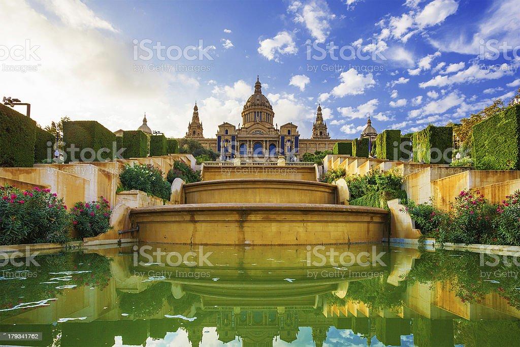 Placa De Espanya. Barcelona. Spain stock photo