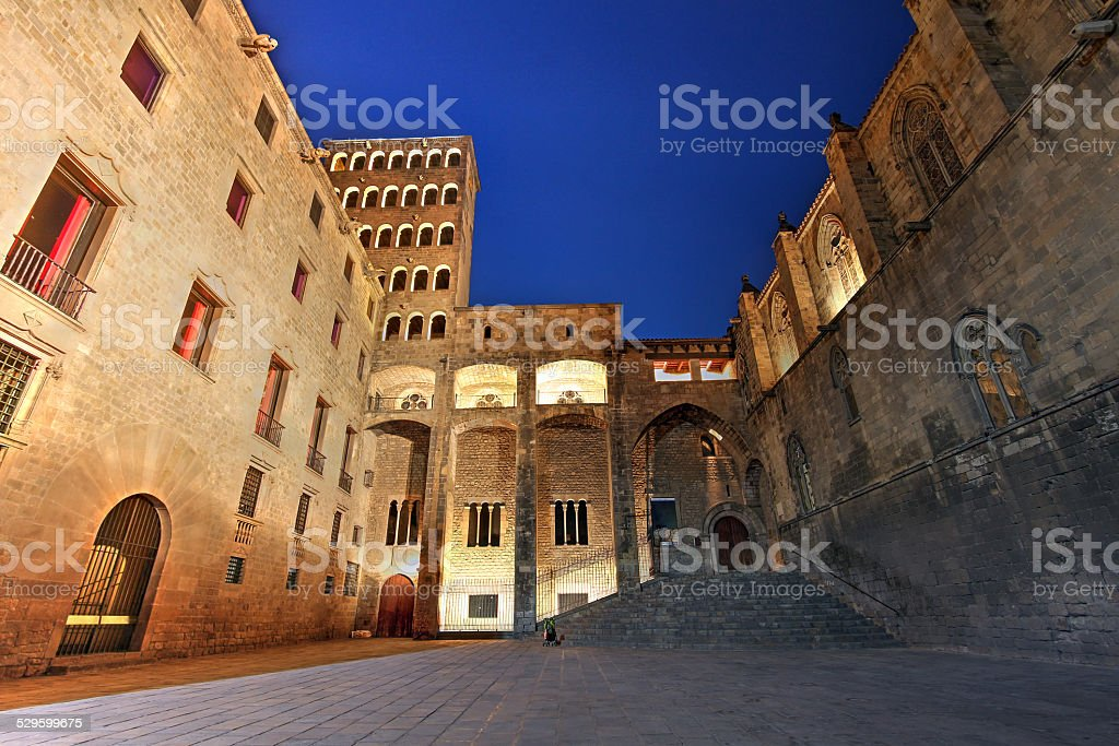 Placa del Rei, Barcelona, Spain stock photo