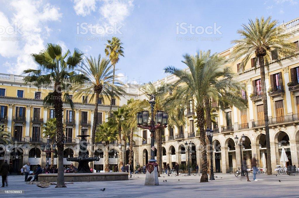 Placa Real, Barcelona stock photo