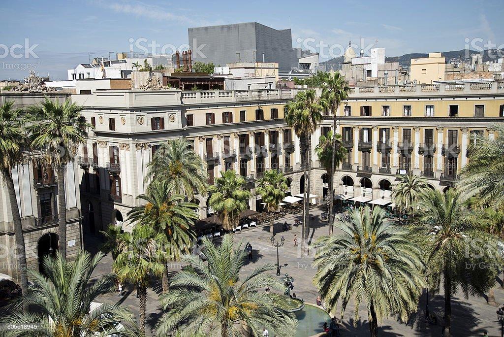 Placa Real,Barcelona stock photo