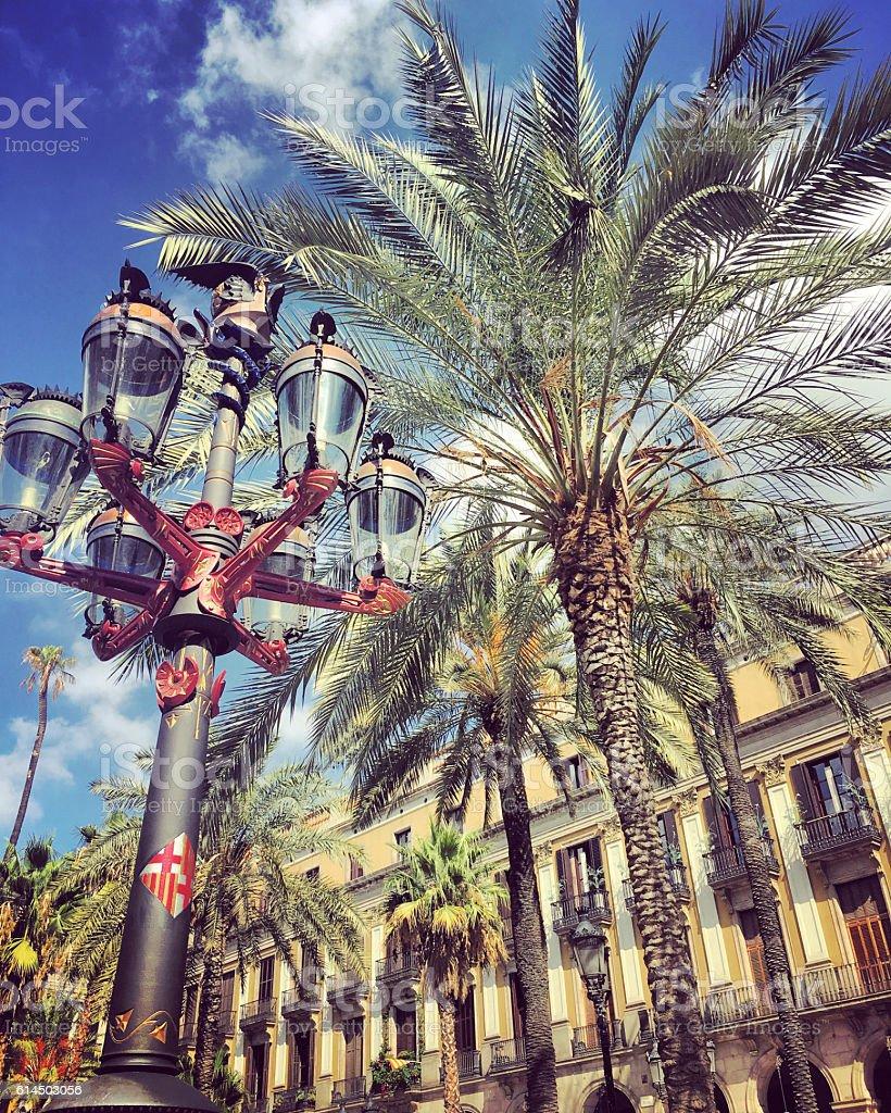Placa Reial, Barcelona stock photo