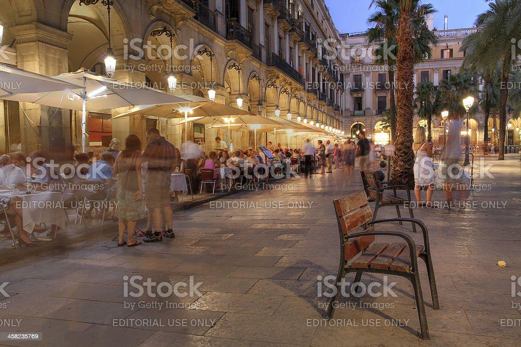 Placa Reial, Barcelona, Spain stock photo