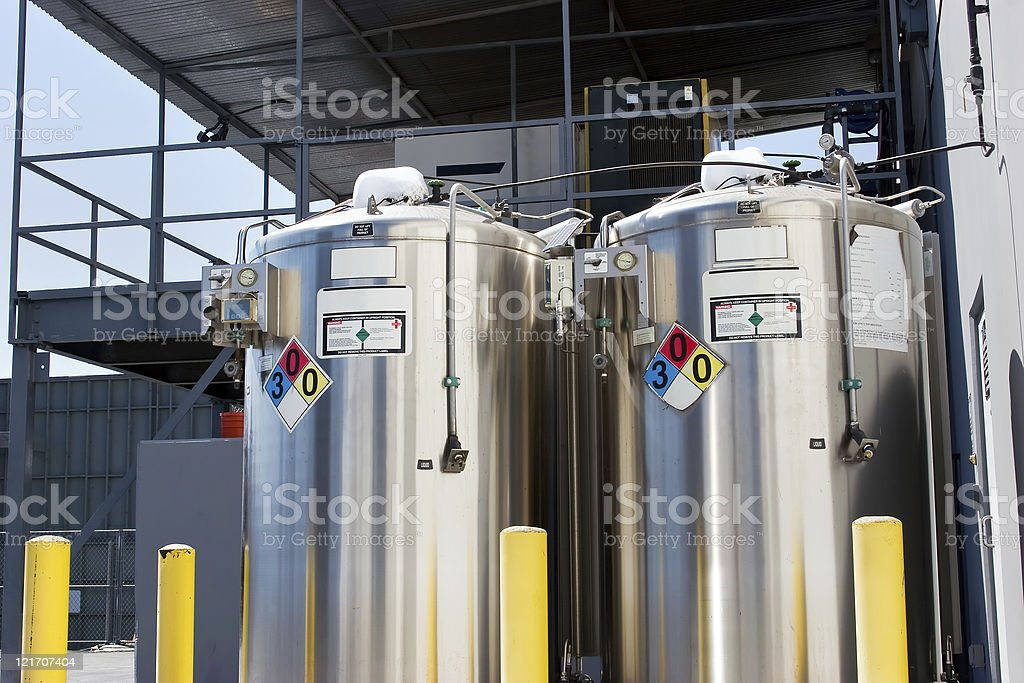 Placard Containers stock photo