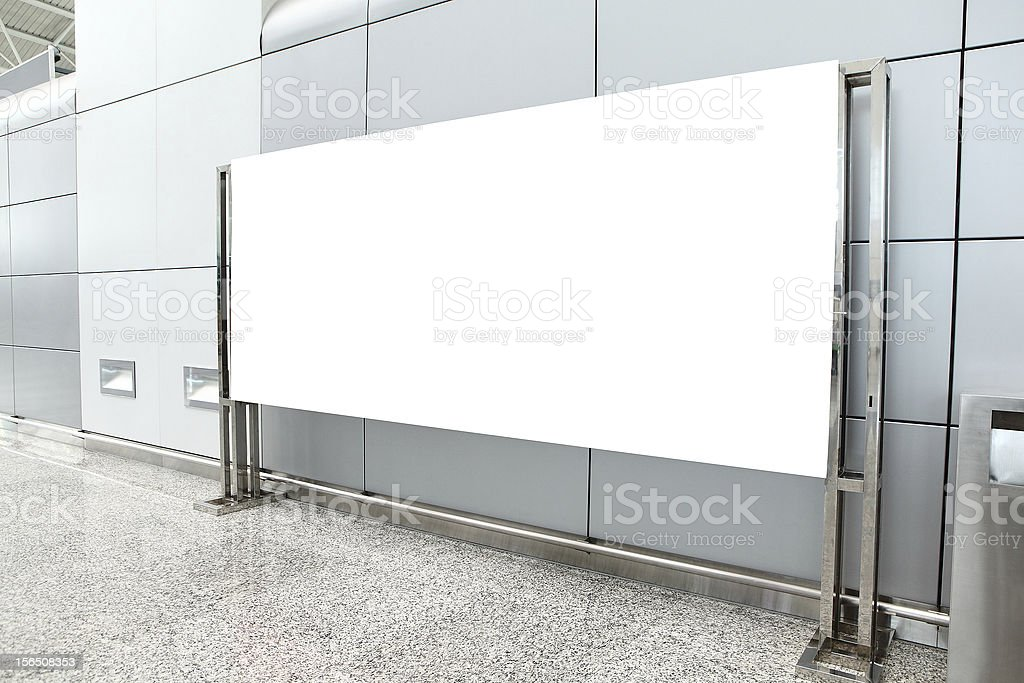 Placard with copy space in airport royalty-free stock photo