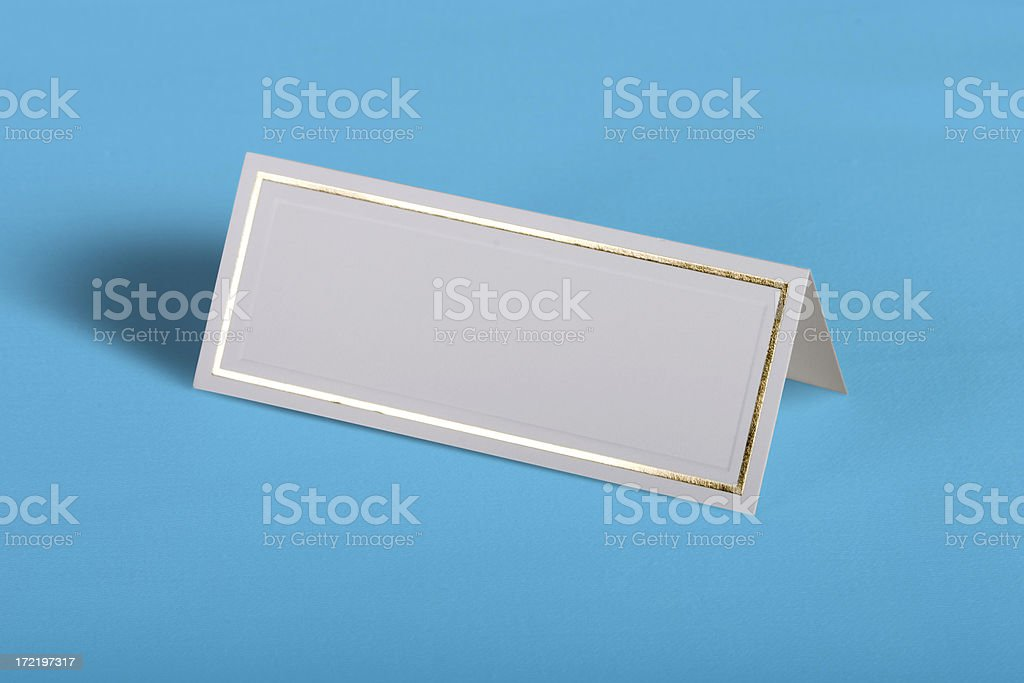 Place card stock photo
