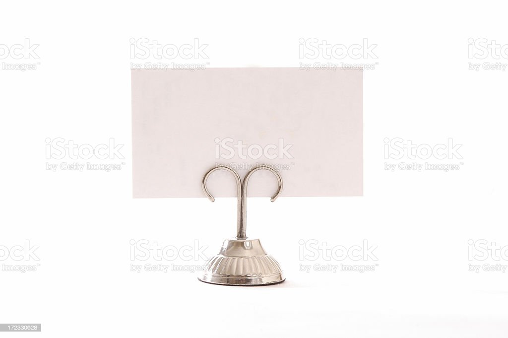 Place Card with holder stock photo