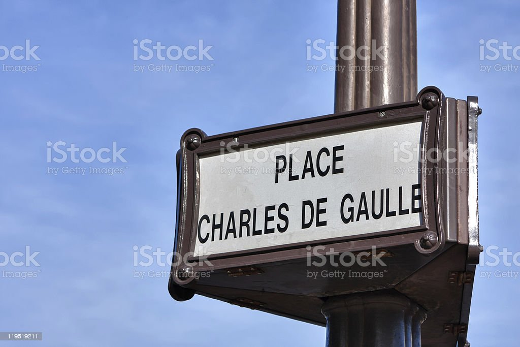 Place Charles de Gaulle stock photo