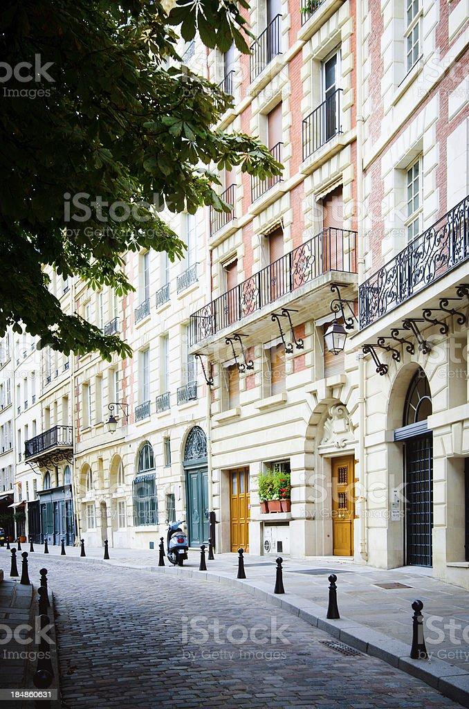Place Dauphine on Île de la Cité in Paris, France royalty-free stock photo