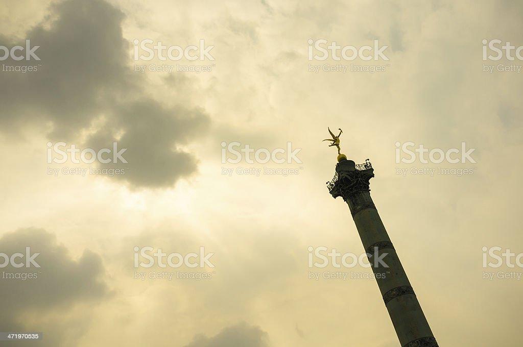 Place de la Bastille in Paris stock photo