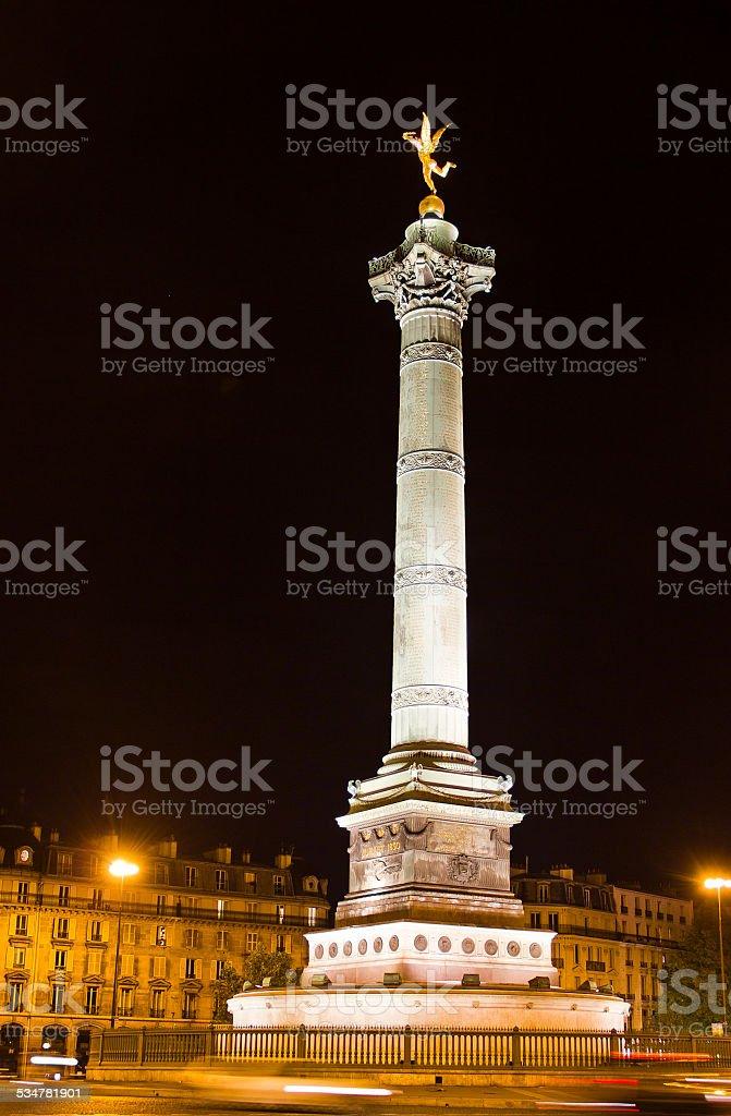 Place de la Bastille, Paris, France stock photo