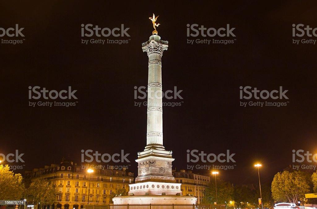 Place de la Bastille, Paris stock photo