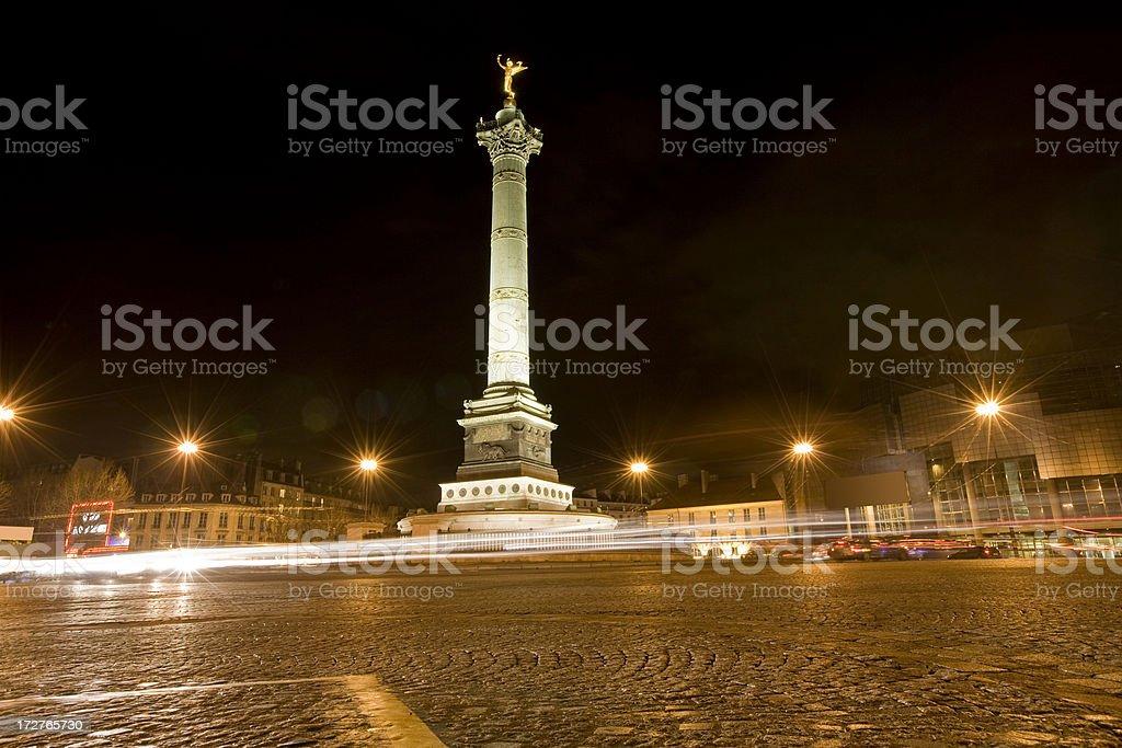 Place de la Bastille Paris stock photo