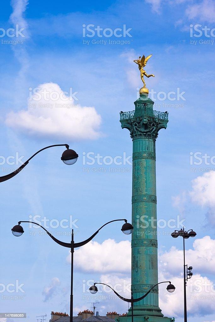 Place de la Bastille (Paris) stock photo