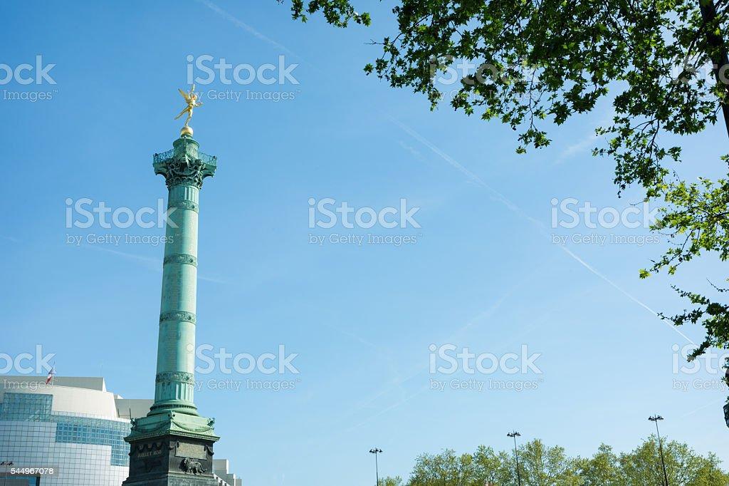 Place de la Bastille,The July Column stock photo