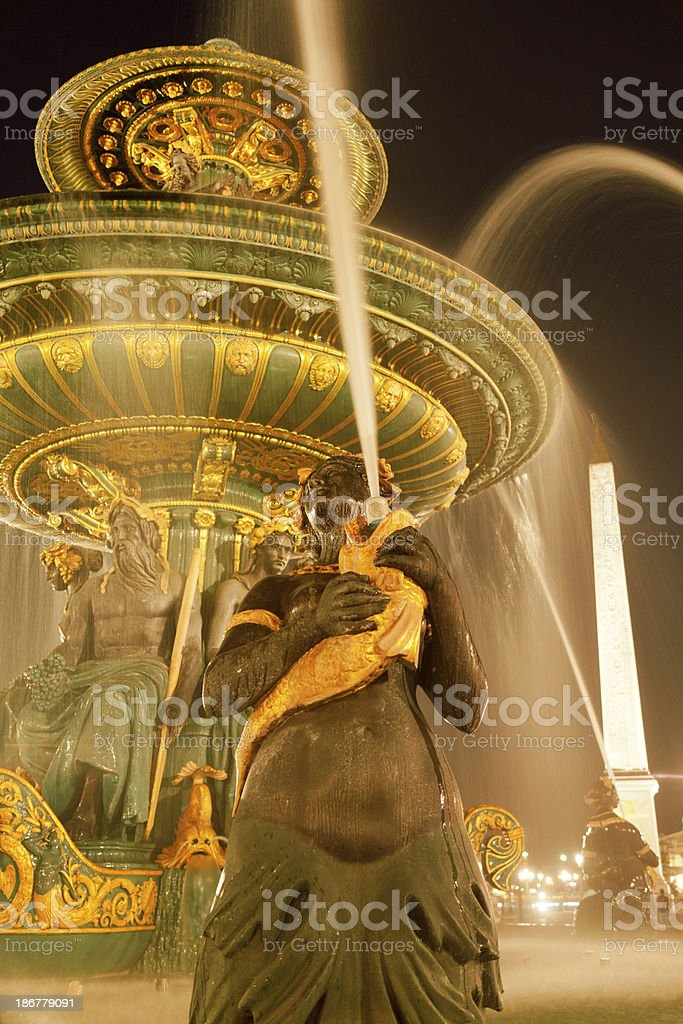 Place de la Concorde, Paris royalty-free stock photo
