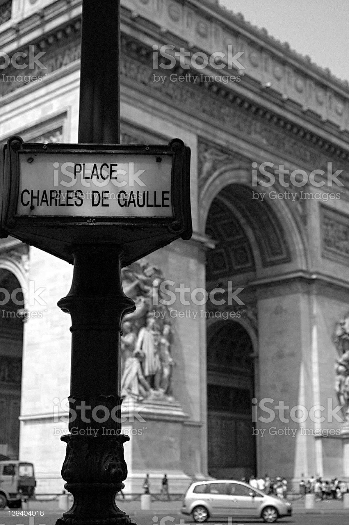 Place de l'Etoile royalty-free stock photo